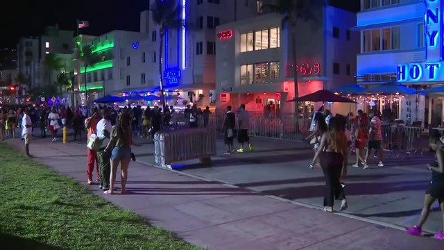 Tourists visit Miami Beach over Memorial Day weekend