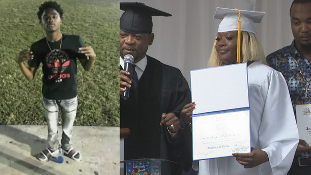 Mother receives posthumous degree for son killed in Homestead
