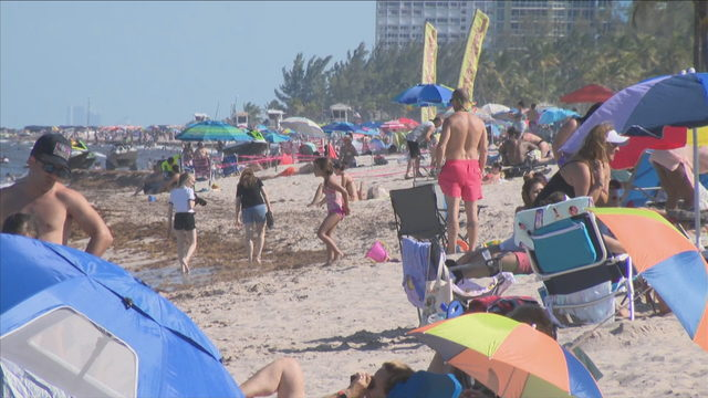 Choppy surf doesn't discourage Memorial Day beachgoers