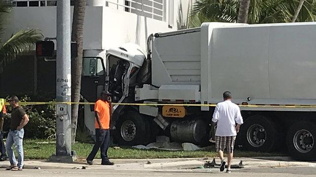 Garbage truck slams into recording studio in South Miami