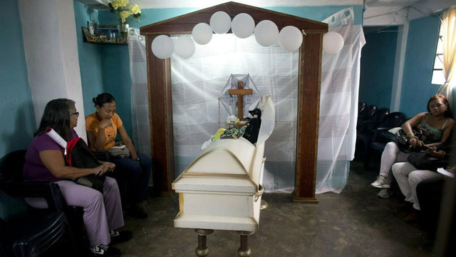 A wake for a Venezuelan boy, and a nation's anguish