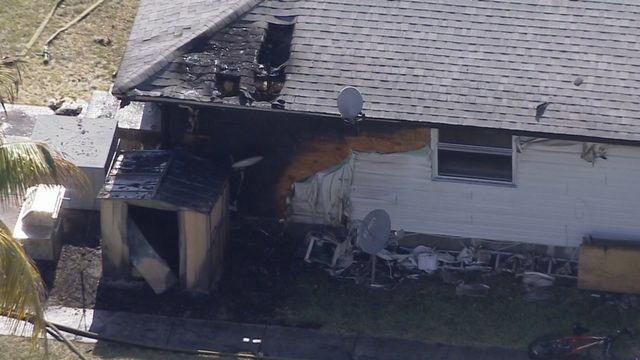 Fire scorches shed, rear of home in Hollywood
