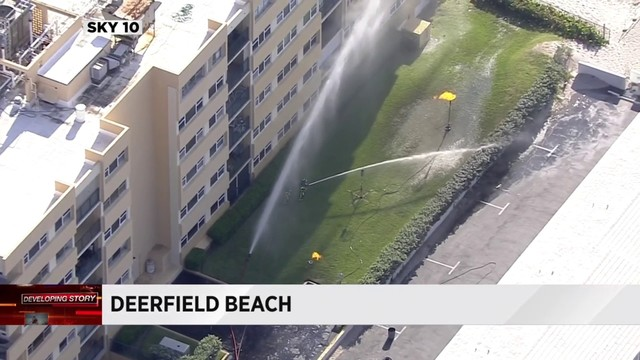Gas leak reported at Deerfield Beach apartment complex