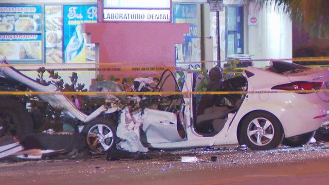1 dead, several hurt after crash in Hialeah