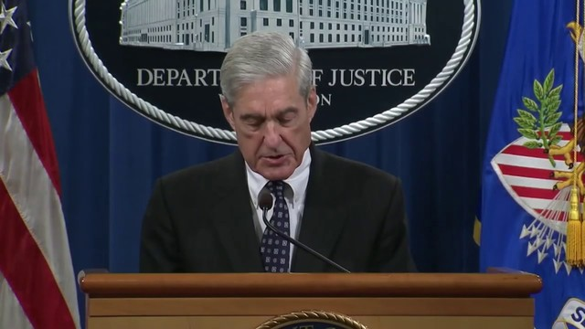 Special counsel Robert Mueller says report did not clear Trump of wrongdoing