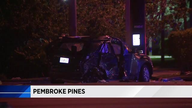 Crash leaves 2 women injured in Pembroke Pines