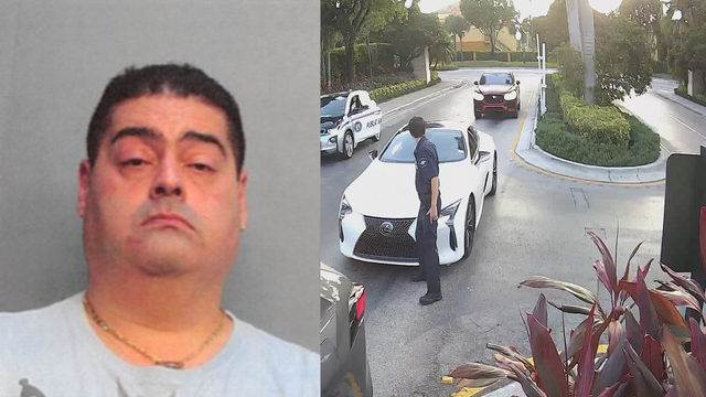 Doctor caught on camera hitting security guard in legs with Lexus, police say