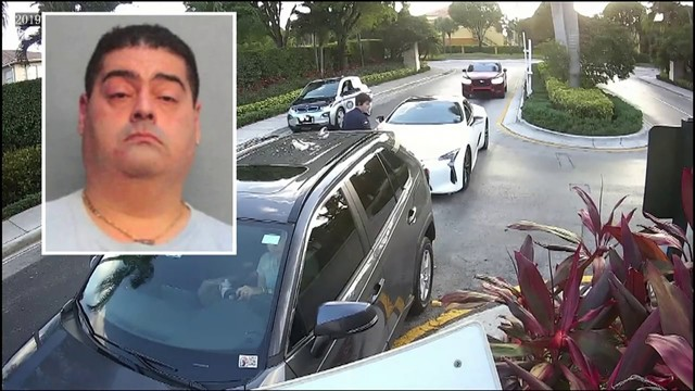 Surveillance video shows South Florida doctor appearing to hit security…