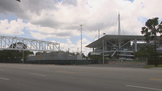Hard Rock Stadium getting pedestrian bridges, tunnels ahead of Super Bowl