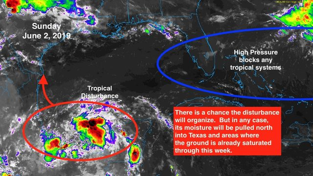 Disturbance in Gulf expected to bring heavy rain to Mexico