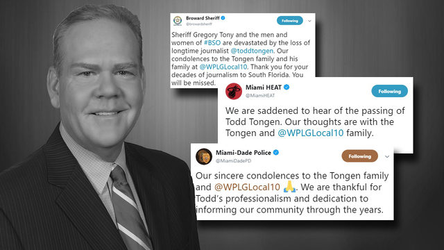 Condolences pour in following the death of Todd Tongen