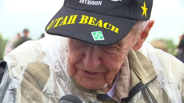 Surviving heroes make it to Utah Beach ahead of D-Day