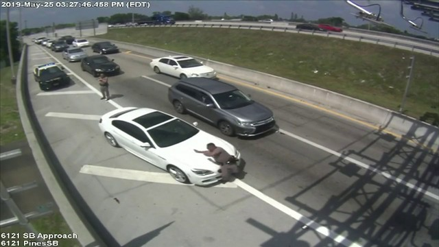 Video shows FHP trooper being struck by car in Hollywood