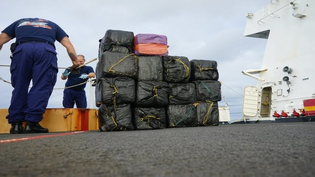 Coast Guard offloads 26,000 pounds of cocaine, 1,500 pounds of marijuana