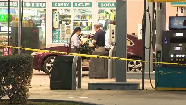 Man found shot in neck at gas station