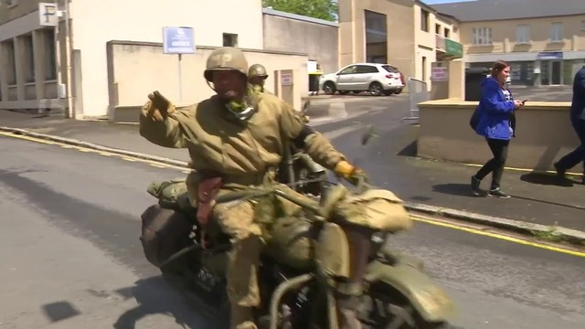 First French town liberated after D-Day marks milestone with parade