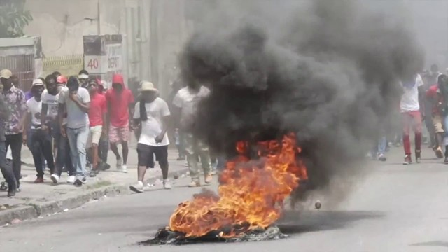 Thousands of Haitians protest in streets, demanding removal of president