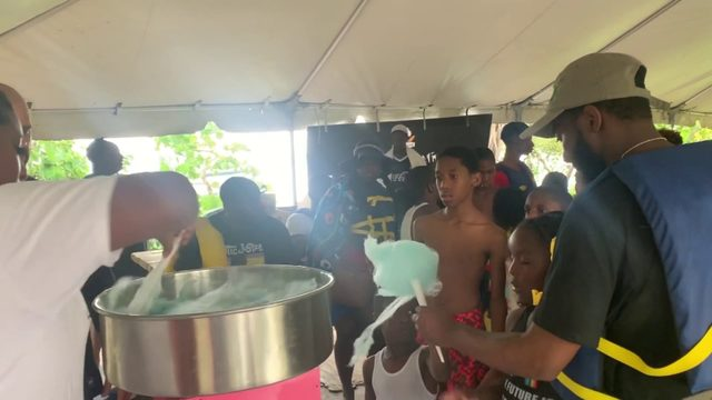 Children enjoy cotton candy, other treats during day of fun with…