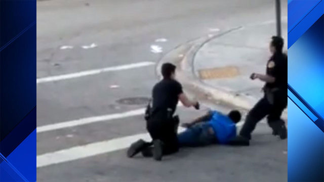 Video shows Miami police officer accidentally using Taser on his partner