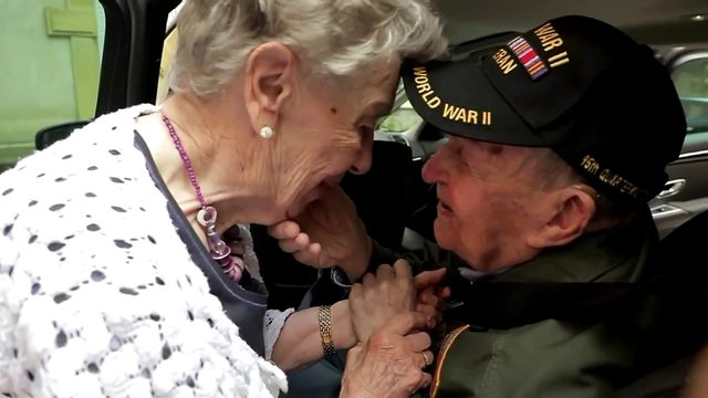 World War II veteran is reunited with long-lost sweetheart