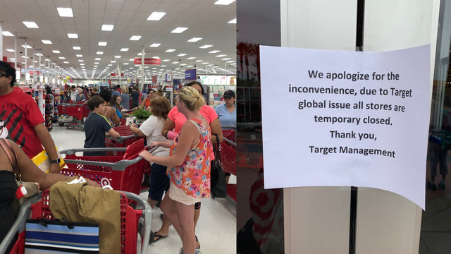 Target suffering register outages nationwide