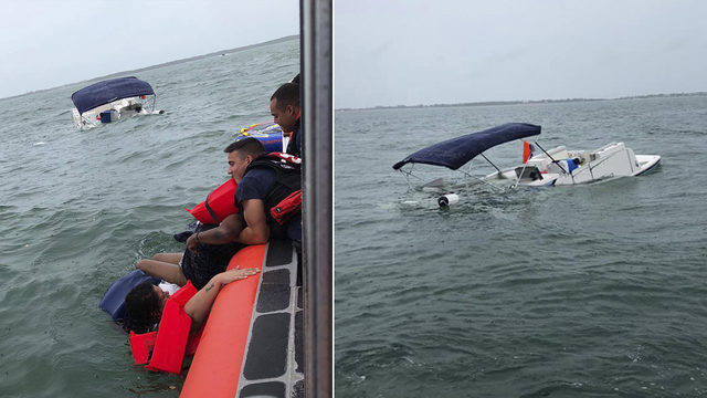 Coast Guard rescues group off Islamorada after boat sinks