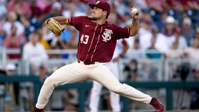 Seminoles shut out Arkansas 1-0 in opening game of College World Series
