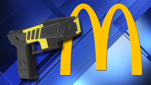 Woman upset over waiting fires Taser at McDonald's employee