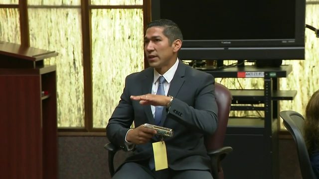 North Miami police Officer Jonathan Aledda testifies in retrial