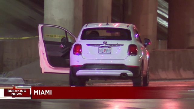 Vehicle found riddled with bullet holes in Miami