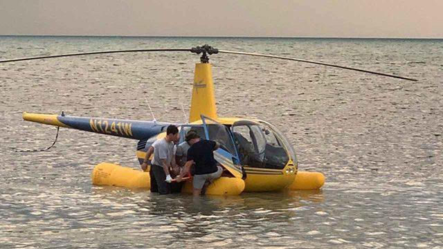 Sightseeing helicopter makes emergency landing in ocean off Key West