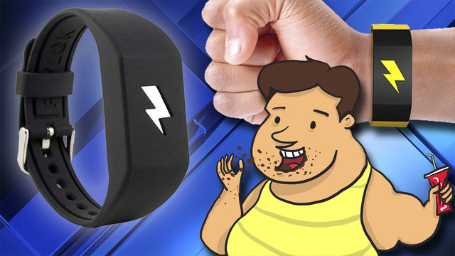 Wristband sold on Amazon shocks you out of bad habits