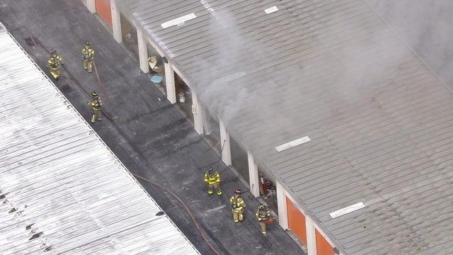 Unit catches fire at Public Storage building in northwest Miami-Dade