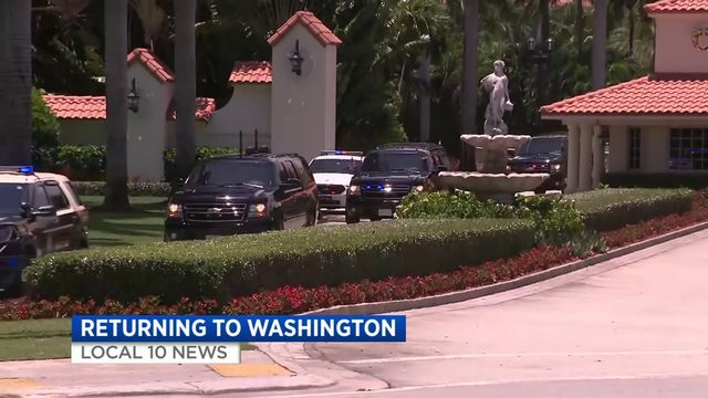 President Trump attends luncheon fundraiser at Doral golf resort