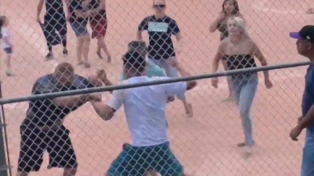 Police release video, search for brawlers at kids' game