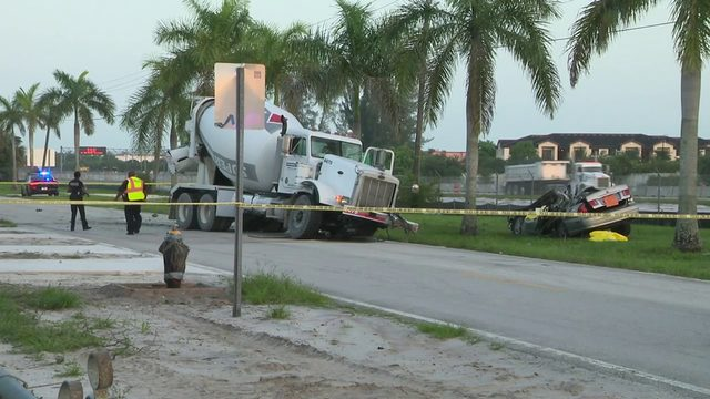 Concrete mixer truck involved in fatal crash in Miami Gardens
