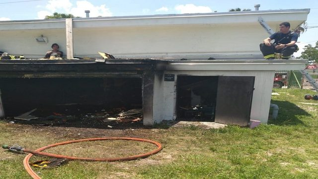 Field house locker room set on fire at Miami Edison Senior High School