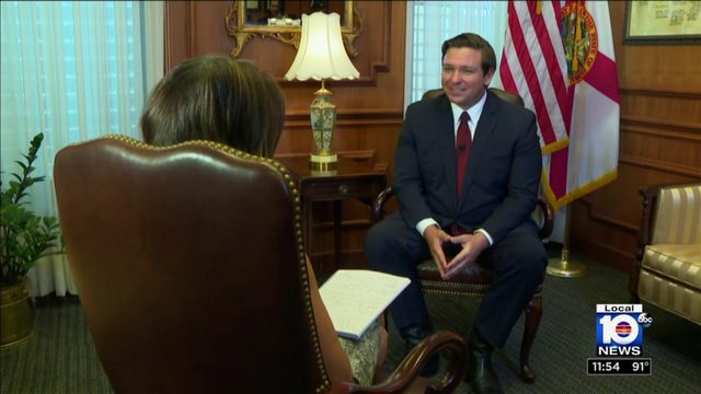 Local 10's Glenna Milberg sits down for exclusive interview with Gov.…