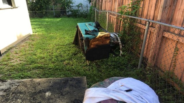 Couch catches fire at duplex in Miami