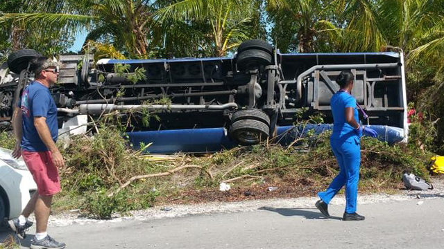 Tourists transported to South Florida after bus crash in Bahamas