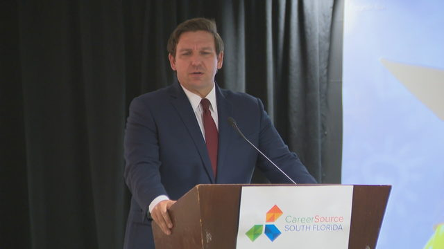 DeSantis speaks to pre-apprenticeship students in Miami