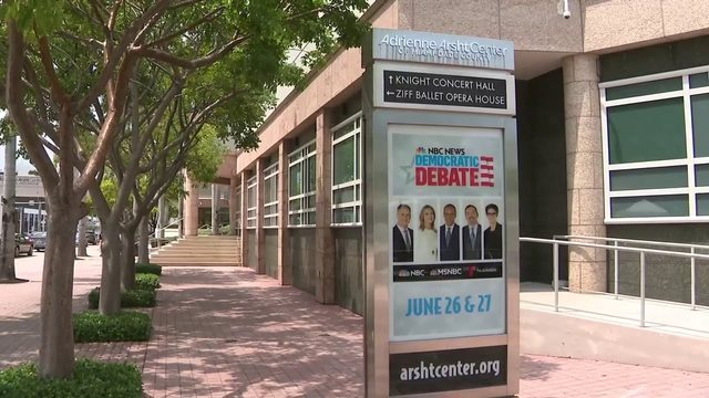 Miami prepares to host 2-night Democratic presidential debate