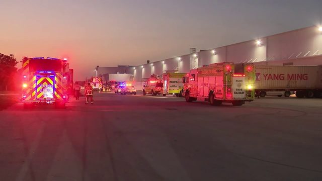 Overheated machine believed to have sparked warehouse fire