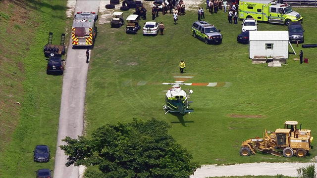 Reports of police officer injured at training center in Doral