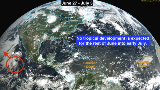 Tropical Storm Alvin forms, but no threat to land