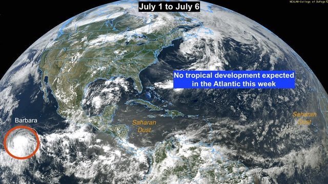 New hurricane in Pacific, but Atlantic stays quiet through holiday