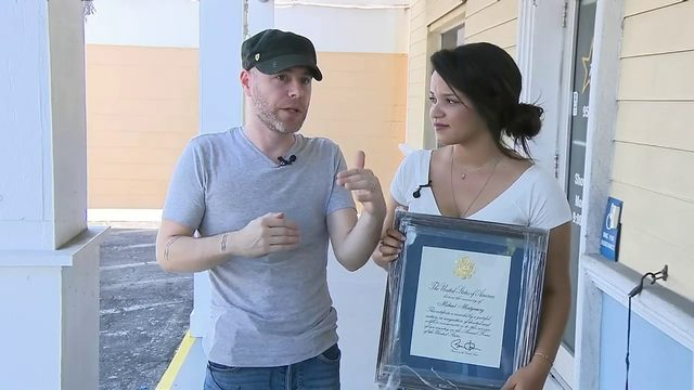 Couple on mission to find family after plaque honoring fallen soldier…