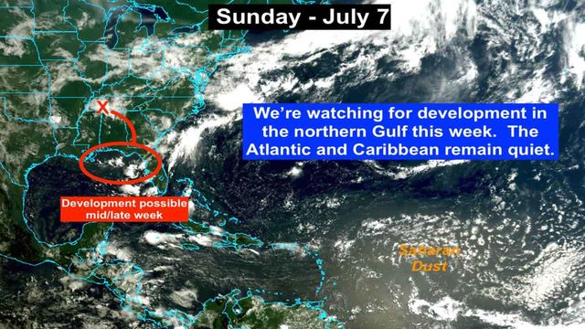 Tropical development appears more likely in northern Gulf of Mexico