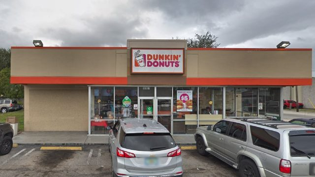 What was that landing on the doughnuts at 1 South Florida Dunkin'?