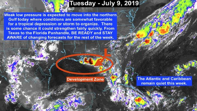 Tropical depression or tropical storm expected to develop in northern Gulf